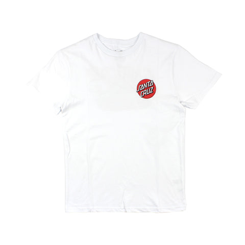 Santa Cruz Bone Slash Tee Youth White