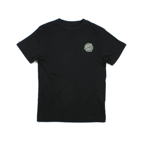 Santa Cruz Youth Spray Hand Tee Black