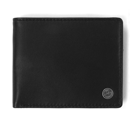 Santa Cruz Dot Leather Wallet Black