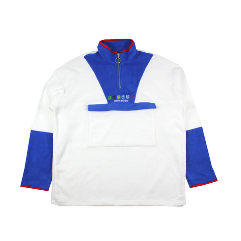 Shinzo Skate & Street 1/4 Zip Fleece Royal Blue/White