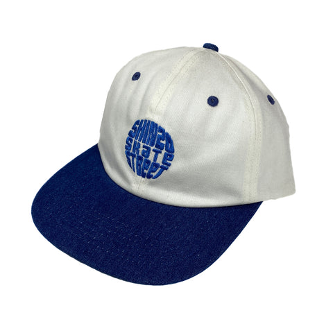 Shinzo Globe Hat White/Blue