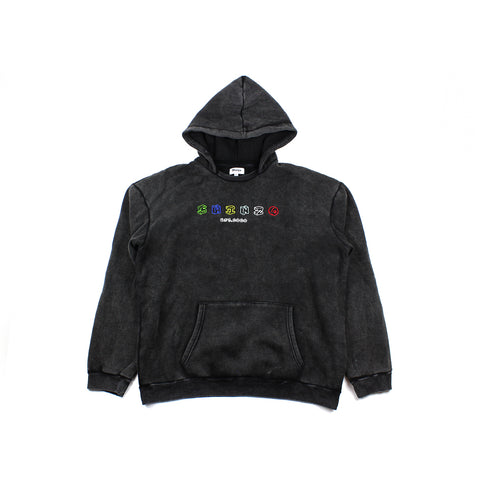 Shinzo Skate & Street Hoodie Washed Black