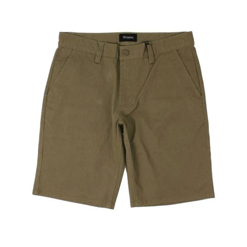 Brixton Toil Hemmed Short Dark Khaki Sale