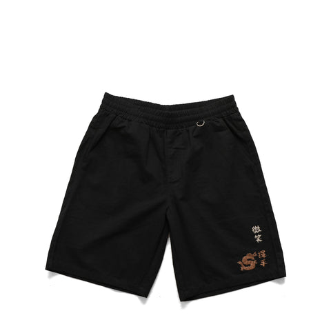 Smile + Wave Logo Shorts Black