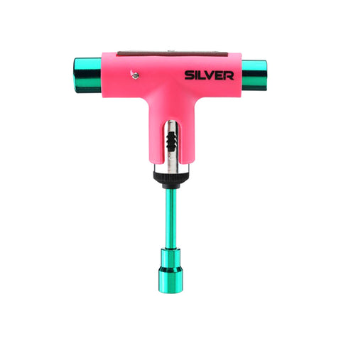 Silver Skate Tool - Neon Pink/Green