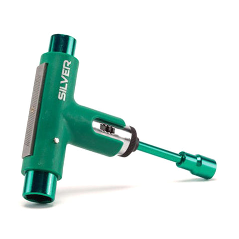 Silver Skate Tool - Green
