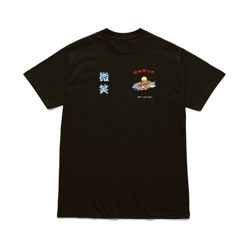 Smile + Wave Platypus World T-Shirt Black