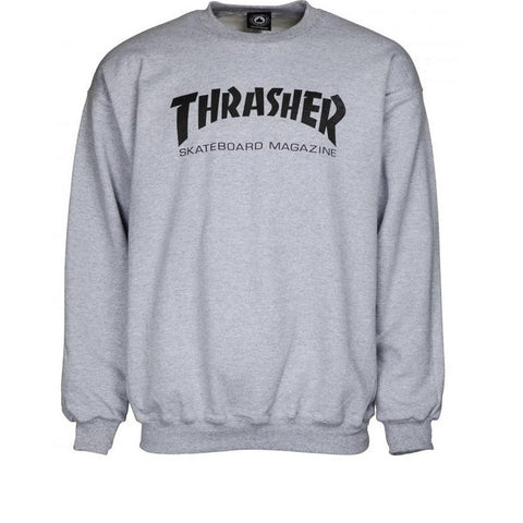 Thrasher Skate Mag Crew Light Grey