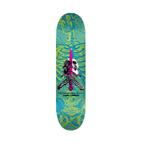 Powell Peralta Skull And Sword Blue/Green 8.25