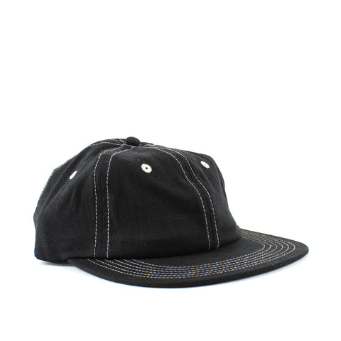 Smile + Wave Stitch Cap Black