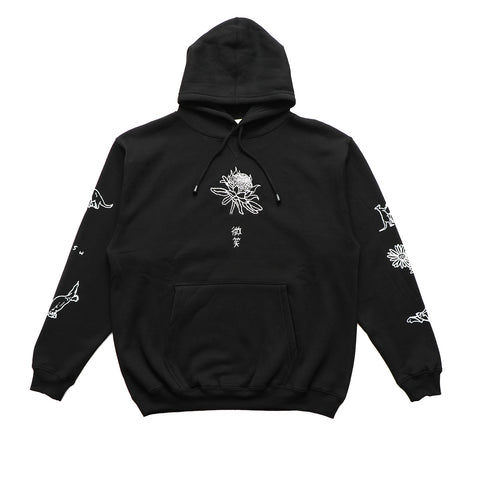 Smile + Wave Chalk Hoody Black