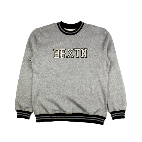 Brixton Newark Crew Heather Grey