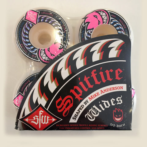 Spitfire Anderson Wides Wheels White 54mm