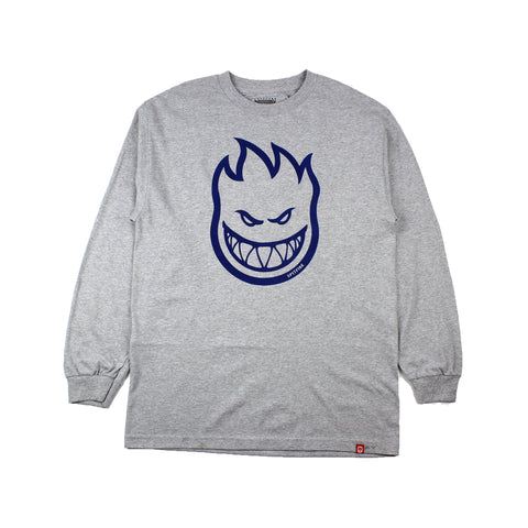 Spitfire Longsleeve Tee Bighead Heather Grey/Blue