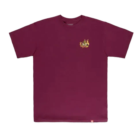 Spitfire Touch Of Satan Tee Burgundy