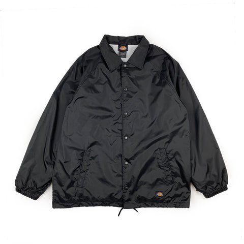 Dickies Snap Front Coach Jacket Black