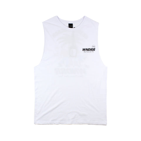WNDRR St. Kilda Beach Muscle Top White
