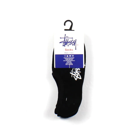 Stussy No Show Sock 3 Pack Black