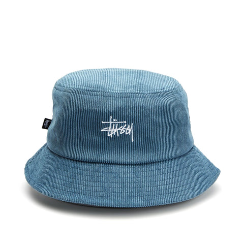 Stussy Cord Graffiti Bucket Hat Blue