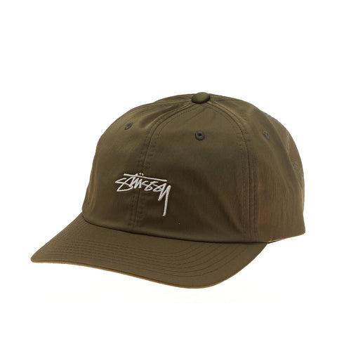 Stussy Satin Low Cap Olive