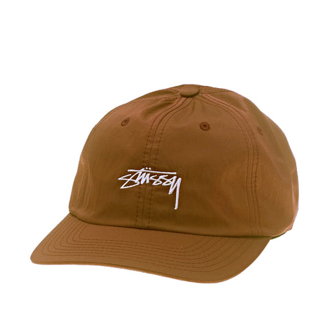 Stussy Satin Low Cap Tan