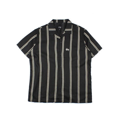 Stussy Linen Stripe Shirt Black/White