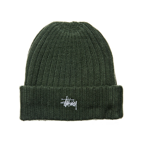 Stussy Rib Knit Beanie Flight Green