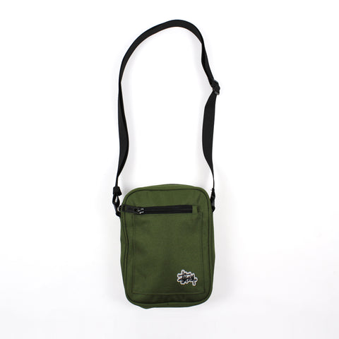 Stussy Graffiti Messenger Bag Green