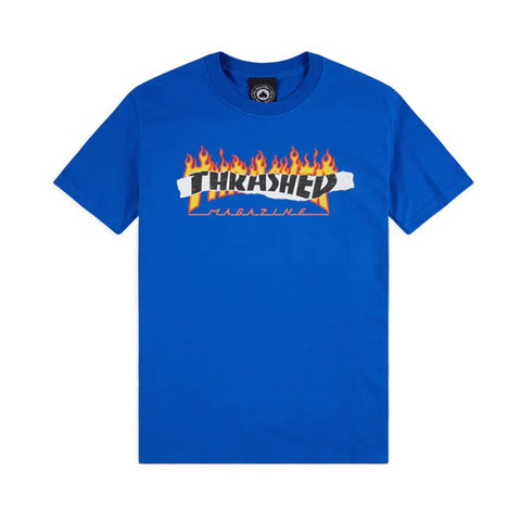 Thrasher Ripped Tee Blue