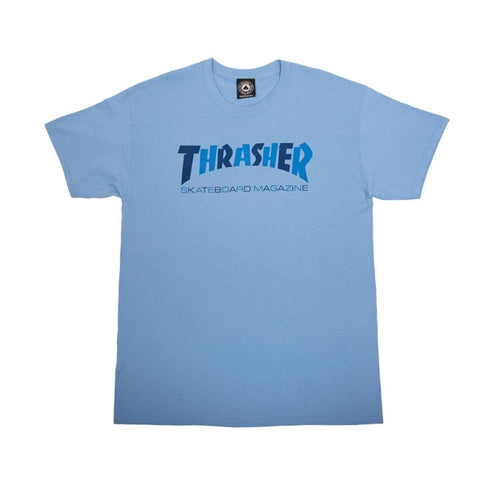 Thrasher Checkers Tee Carolina Blue Sale