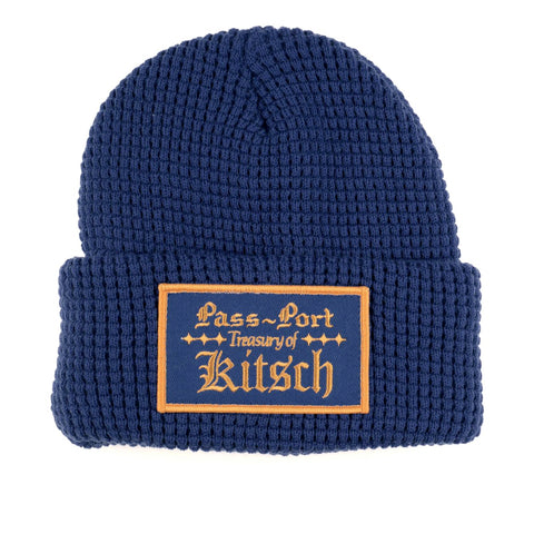 Passport Treasury Waffle Knit Beanie Navy