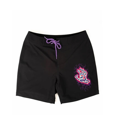 Santa Cruz Electro Hand Beach Short Youth Black