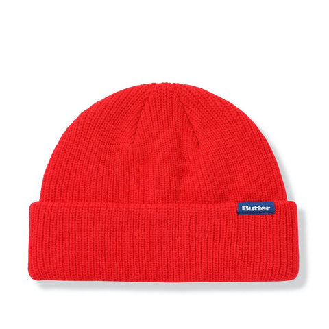 Butter Goods Wharfie Beanie Red