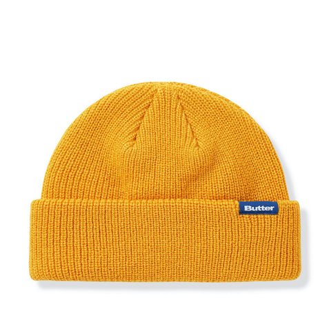 Butter Goods Wharfie Beanie Burnt Yellow