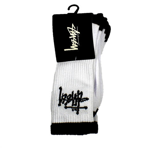 Stussy Graffiti Socks 3 Pack White