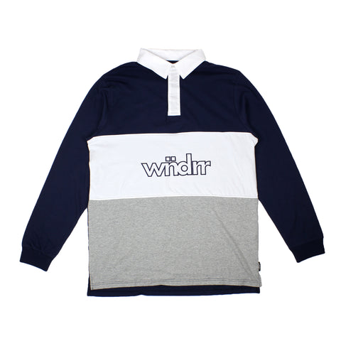 WNDRR Miller Rugby Top Navy/White Sale