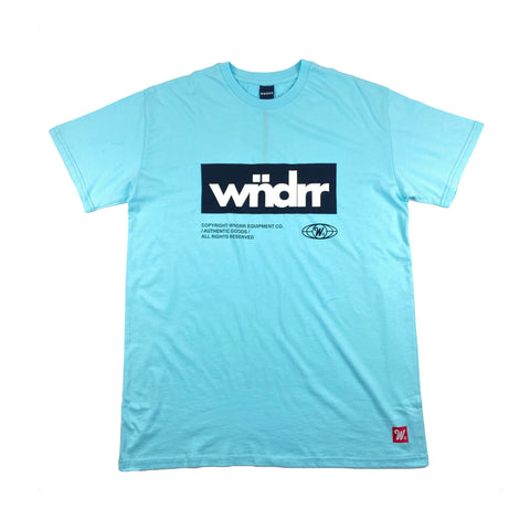 WNDRR Manifest Custom Fit Tee Light Blue Sale