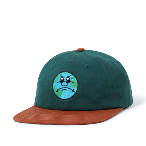 Butter Goods World 6 Panel Cap Forest / Burnt Orange