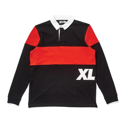 X-Large Rugby Polo Pirate Black
