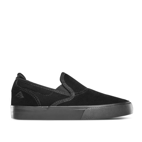 Emerica Wino G6 Slip-On Youth Black/Black