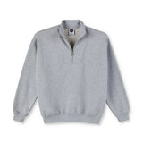 Polar Zip Neck Sweatshirt Sport Grey Sale