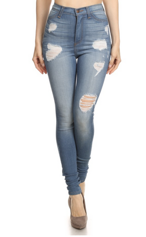 LVB Medium-Blue Ripped Jeans