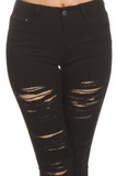LVB Black Slashed Jeans