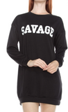 """Savage"" Long Sleeve Shirt Dress"