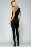 """Ximena"" One Shoulder Jumpsuit"