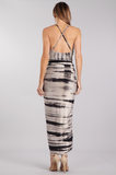 """Rebecca"" Black & White Tie Dye Dress"