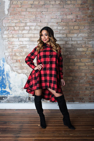 """Anyday Flannel"" Dress"