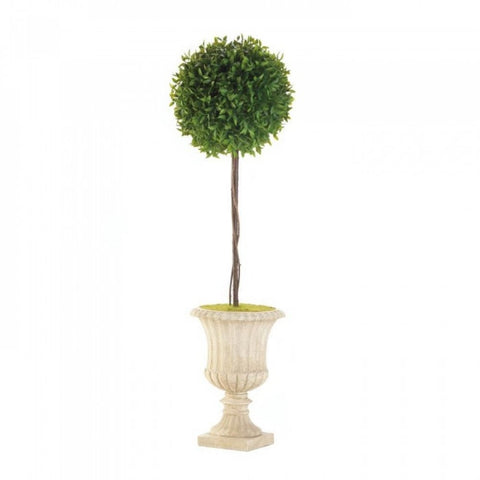"29"" Topiary In White Planter - shophomegardens.com"
