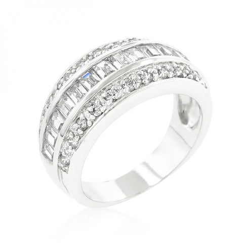 3-row Cubic Zirconia Band - shophomegardens.com