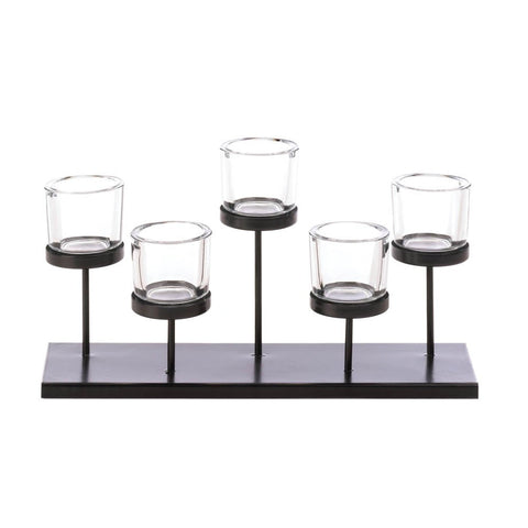 5 Cups Staggered Candleholder - shophomegardens.com